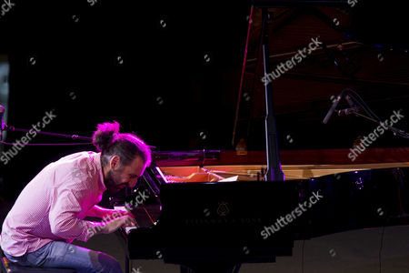 Italian Pianist Stefano Bollani Performs Onstage During His Concert on the Occasion of the 36th Vitoria-gasteiz Jazz Festival in Vitoria Spain 17 July 2012 Spain Vitoria