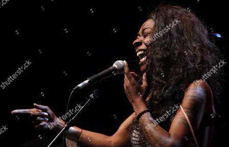 Spanish Singer Concha Buika Performs on Stage During Her Concert Held at Price Circus Theatre in Madrid Spain on 24 July 2013 on the Ocassion of Veranos De La Villa Festival (villa's Summer Festival) Spain Madrid