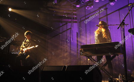 Us´ Duo 'Beach House' Members Singer and Keyboard Player Victoria Legrand (r) and Guitarist Alex Scally (l) Perform on Stage During Their Last Album 'Bloom' Presentation´s Concert in Madrid Spain on 15 March 2013 Spain Madrid