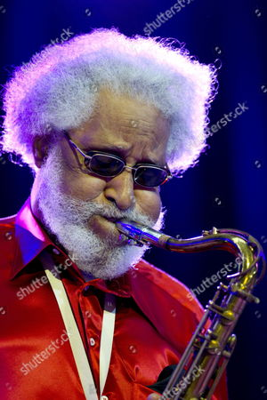 Us Saxophonist Sonny Rollins Performs on Stage of the Auditorium Kursaal During the Closing of the 47th Edition of the Jazz Festival of San Sebastian Northern Spain 21 July 2012 Spain San Sebastián