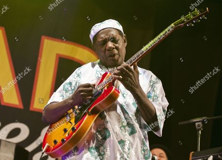Ghanaian Guitarist and Composer Ebo Taylor Performs on Stage at Womad Multicultural Festival in Caceres Western Spain 19 May 2012 Spain CÁceres
