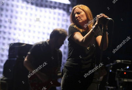 Beth Gibbons of British Band Portishead Performs on Stage at Low Cost Festival in Benidorm Eastern Spain 27 July 2013 Spain Benidorm