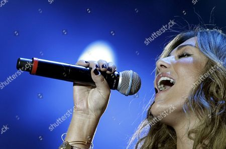 Spanish Singer Amaia Montero Performs on Stage During Her Rock in Rio Concert at Arganda Del Rey in Madrid on 5 July 2012 Which Will Finish with Performances of Swedish House of Mafia and British Dj Carl Cox Spain Madrid