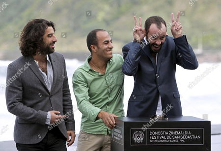 Actors Karim Saleh (l-r) Ramzi Maqdisi and Ali Suliman Pose on the Occasion of the Presentation of 'The Attack' During the 60th Sebastian International Film Festival in San Sebastian Spain 25 September 2012 the Festival Runs From 21 to 29 September Spain San Sebastian