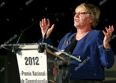 British Costume Designer Yvonne Blake Delivers a Speech After Receiving the Spanish National Cinematography Award During a Ceremony Held Within the Frame of the 60th Sebastian International Film Festival in San Sebastian Spain 22 September 2012 the Festival Runs From 21 to 29 September Spain San Sebastian