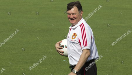 Chinese National Soccer Team Head Coach Jose Antonio Camacho Smiles During a Training Session Held at Benito Villamarin Stadium in Seville Southern Spain 31 May 2012 China Will Face Spain in a Friendly Soccer Match the Upcoming 03 June at La Cartuja Stadium in Seville Spain Seville