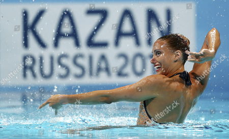 British Jenna Randall Competes at Solo Technical Routine Preliminary Round As Part of 15th Fina World Championship at Palau Sant Jordi Pavilion in Barcelona Northeastern Spain 20 July 2013 the Swimming World Championship Runs Until Next 04 August Spain Barcelona