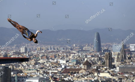 French Diver Laura Marino in Action During the Female's 10-meters Springboard Diving Final of the 15th Fina Swimming World Championships at the Montjuic Local Swimming Pool in Barcelona Northeastern Spain 25 July 2013 Spain Barcelona