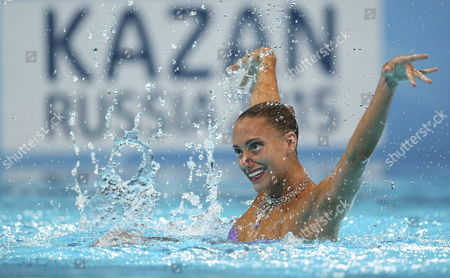 British Jenna Randall in Action During a Last Solo Free Routine As Part of 15th Fina World Championships at Palau Sant Jordi Pavilion in Barcelona North-eastern Spain 22 July 2013 Spain Barcelona