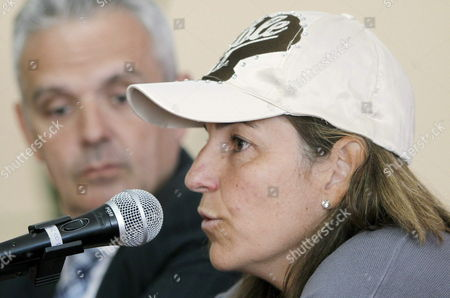 Spain's Tennis Federation President Jose Luis Escanuela (l) Listens to Spanish Former Tennis Player and Spanish Fed Cup Team Captain Arantxa Sanchez Vicario During a Press Conference in Barcelona Northeastern Spain on 11 April 2012 Sanchez Vicario Announced the Players For the Next Tennis Federation Cup Match That the Team Will Play Against Slovakia the Players Selected Were Silvia Soler Lourdes Domínguez Arantxa Parra and Nuria Llagostera Spain Barcelona