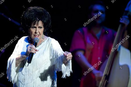Stock Picture of Us´ Legendary Artist Wanda Jackson Known As 'Rockabilly Queen' Performs on Stage During Her Concert in Santa Cruz De Tenerife Canary Islands Spain where She Played Classic Songs and Themes of Her Last Album 'The Party Ain't Over' on 08 July 2012 Spain Santa Cruz De Tenerife