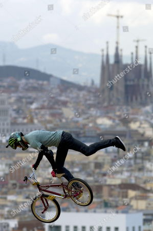 British Cyclist Jamie Bestwick Competes in the Bmx Vert Final of the Xgames in Barcelona North-eastern Spain 17 May 2013 Spain Barcelona