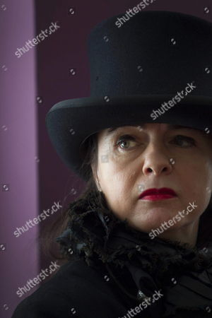 Belgian Writer Amelie Nothomb Looks on During the Presentation of Her Book 'A Way of Life' in Barcelona Spain 23 March 2012 Spain Barcelona