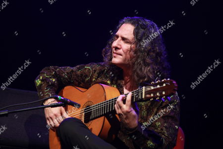 Spanish Flamenco Guitarrist Jose Fernandez Torres 'Tomatito' Performs During a Concert at Adela Reta Auditorium in Montevideo Uruguay 30 November 2012 Uruguay Montevideo