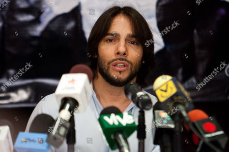 Spanish Flamenco Dancer Joaquin Cortes Speaks During a Press Conference in Caracas Venezuela 30 April 2012 Cortes Will Perform a Show at Plaza Diego Ibarra in the Venezuelan Capital on 02 May Venezuela Caracas
