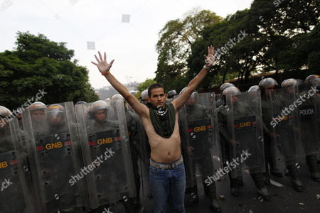 Thousands of Supporters of Venezuelan Presidential Opposition Candidate Henrique Capriles Radonski Protest Against the Elections Results in Caracas Venezuela on 15 April 2013 Capriles Called His Supporters to Demonstrate Against the Proclamation of Nicolas Maduro As Winner of the Presidential Elections and Asked Again For the Votes to Be Recounted Venezuela Caracas