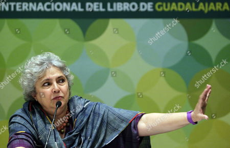 Mexican Writer Laura Esquivel Speaks During a Press Conference in the Frame of the 26th International Book Fair of Guadalajara in Guadalajara in the Mexican State of Jalisco 30 November 2012 Esquivel Stated That Believing in Any Utopia 'Is Valid' As It Gives Hope to People who Are 'Disenchanted' of an Economic System That Decides For Them Mexico Guadalajara
