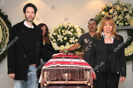 Friends of the Famous Costa Rican Ranchera Singer Chavela Vargas Next to Her Coffin at a Funeral Parlor in Mexico City on 05 August 2012 Vargas Died on Sunday at Age 93 Due to a Respiratory Failure in a Hospital in the City of Cuernavaca South of the Mexican Capital Mexico Mexico City