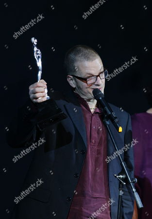 Mexican Director Rodrigo Pla Receives the Ariel Award to Best Direction For the Movie 'La Demora' During the 55th Edition of Ariel Awards Ceremony by Mexican Academy of Arts and Cinematographic Sciences at Bellas Artes Palace in Mexico City Mexico 28 May 2013 Mexico Mexico City