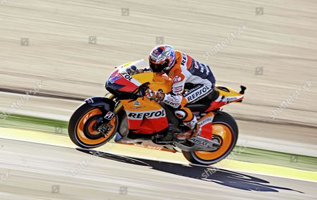 Australian Motogp Rider Casey Stoner of the Repsol Honda Team in Action During the Third Free Practice Session of the Valencia Motorcycling Grand Prix at the Ricardo Tormo Racetrack in Valencia Eastern Spain 10 November 2012 the Final Race of the 2012 World Championship Will Be Held on 11 November 2012 Spain Valencia
