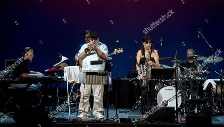 Us Trumpeter Randy Brecker (c-l) Performs on Stage with His Band During the 33rd Guitar Festival of Cordoba Spain 09 July 2013 Spain Cordoba