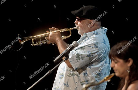 Us Trumpeter Randy Brecker Performs on Stage with His Band During the 33rd Guitar Festival of Cordoba Spain 09 July 2013 Spain Cordoba