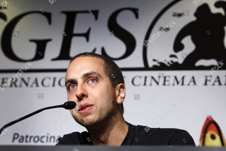 Canadian Filmmaker Brandon Cronenberg Speaks During the Presentation of His Movie 'Antiviral' at the 45th Sitges International Fantastic Film Festival of Catalonia in Sitges Spain 10 October 2012 the Film Festival Runs Until 14 October Spain Sitges (barcelona)