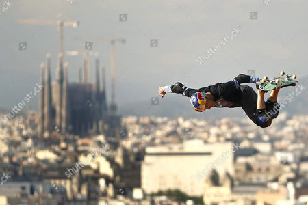 Stock Picture of Brazil's Sandro Dias in Action During the Skate Vert Final of the X Games in Barcelona Northeastern Spain 16 May 2013 Spain Barcelona