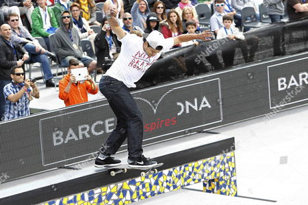 Us Skater Paul Rodriguez Competes in the Street League Skateboarding Final of the Xgames in Barcelona North-eastern Spain 18 May 2013 Spain Barcelona