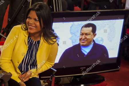 Maria Gabriela Chavez Daughter of Late Venezuelan President Hugo Chavez Receives the National Journalist Award in Tribute to Her Late Father During a Ceremony at Miraflores Palace in Caracas Venezuela 27 June 2013 Chavez Died in March 2013 Venezuela Caracas