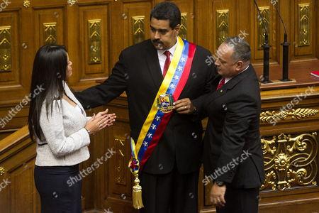 Editorial photo of Venezuela Maduro Inauguration - Apr 2013