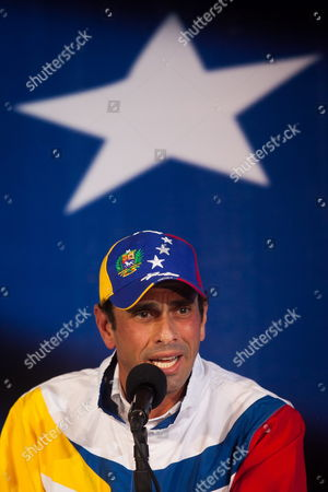 Venezuelan Opposition Leader Henrique Capriles Radonski Adresses a Press Conference in His Political Office in Caracas Venezuela 02 May 2013 Capriles Called His Supporters For not Being Tired in the Struggle For the Truth About the 14 April Elections He Announces He Opposes the Entire Process How Official Candidate Nicolas Maduro was Elected Venezuela Caracas