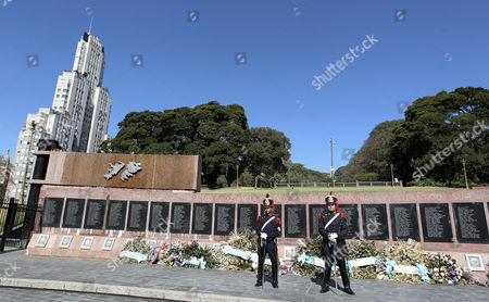 View of the Memorial to Argentinian Soldiers who Died in the Falklands War in Buenos Aires Argentina 09 April 2015 the Argentinian Government Called British Ambassador in the Country John Freeman to Demand Explanations Over Alleged Espionage Against the Country Linked with the Dispute Over the Falklands and to Inform Him About Upcoming Denouncement of 'Illegal Exploitation' of Oil in the Zone Argentina Buenos Aires