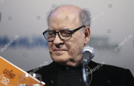 Argentinian Cartoonist Joaquin Salvador Lavado Best Known As 'Quino' Author of the Popular Comic Character 'Mafalda' Participates in the Opening of the 40th Edition of the Buenos Aires Book Fair 2014 in Buenos Aires Argentina 24 April 2014 the Most Important Literary Appointment of South America Will Also Host Writers Such As Us Paul Auster and South African Nobel John Maxwell Coetzee the Fair Runs From 24 April to 12 May 2014 Argentina Buenos Aires
