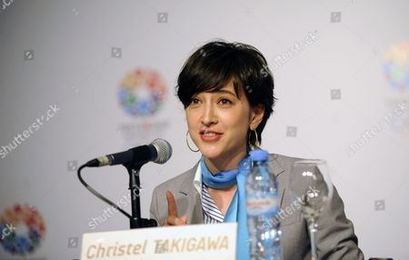 Japanese Tv Anchor Christel Takigawa Speaks During an Event to Support Tokyo's Candidacy to Be the Host City of the Summer Olympics 2020 in Buenos Aires Argentina 06 September 2013 the International Olympic Committee (ioc) Will Elect in Buenos Aires on 07 September the Host City of the 2020 Olympic Games the Candidates Are Madrid Tokyo and Istanbul Argentina Buenos Aires