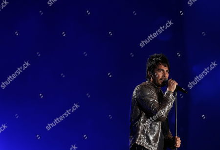 Chilean Singer Beto Cuevas and His Band 'La Ley' Perform During a Concert on the Fourth Day of the International Festival of Vina Del Mar 120 Km From Santiago De Chile Chile 26 February 2014 the Festival is Held Between 23 and 28 Feburary Chile Vina Del Mar