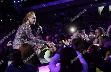 Spanish Singer Paloma San Basilio Performs at the Vina Del Mar Music Festival in Vina Del Mar Chile Late 27 February 2014 the Festival Runs From 23 to 28 February Chile Vi±a Del Mar