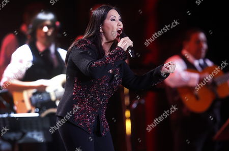 Mexican Singer Ana Gabriel Performs During the 55th Vina Del Mar Song Festival in Vina Del Mar 120 Km From Santiago Chile 25 February 2014 the Event Runs From 23 to 28 February 2014 Chile Vina Del Mar
