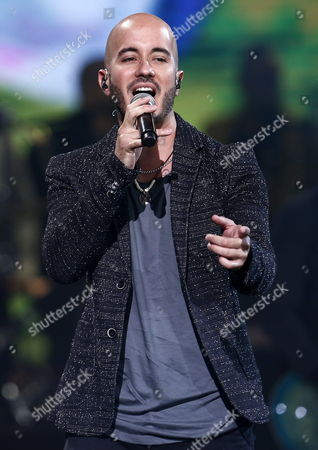 Singer of the Puerto Rican Band Cultura Profetica Willy Rodriguez Performs on the Stage During the 56th Vina Del Mar Song Festival in Vina Del Mar Chile 25 February 2015 the Music Festival Runs From 22 to 27 February Chile Vina Del Mar