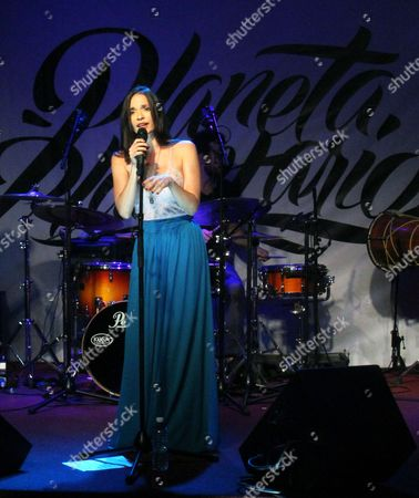 Cuban Singer Diana Fuentes Performs During the Presentation of Her Latest Album 'Planeta Planetario' in Havana Cuba 29 August 2014 Cuba Havana