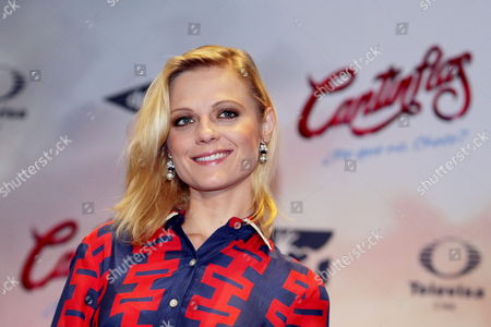 Russian-mexican Actress Ana Layevska Attends a Press Conference to Present the Movie 'Cantinflas' in Mexico City Mexico 08 September 2014 the Movie Will Be Released in Mexico on 18 September Mexico Mexico City