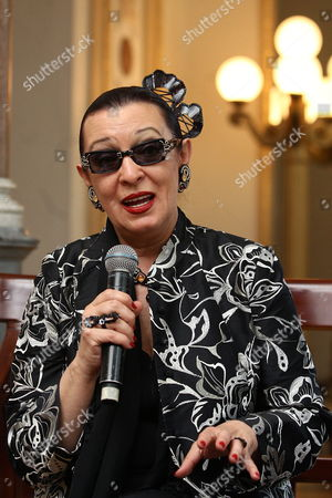 Spanish Singer Maria Isabel Quinones Known As Martirio Speaks During a Press Conference in Mexico City Mexico 13 May 2014 where She Announced That She Will Give Four Concerts in This Country to Pay Tribute to Late Mexican Chavela Vargas who Died in August 2012 Martirio Will Perform in the Cities of Texcoco (14 May) Cuernavaca (16) and at the Theater of Ciudad Esperanza Iris From the Capital City Next 17 and 18 May Mexico Mexico City