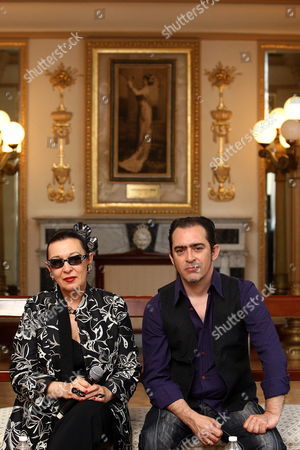 Spanish Singer Maria Isabel Quinones Known As Martirio Poses Accompanied by Her Son Guitarist Raul Rodriguez (r) During a Press Conference in Mexico City Mexico 13 May 2014 where She Announced That She Will Give Four Concerts in This Country to Pay Tribute to Late Mexican Chavela Vargas who Died in August 2012 Martirio Will Perform in the Cities of Texcoco (14 May) Cuernavaca (16) and at the Theater of Ciudad Esperanza Iris From the Capital City Next 17 and 18 May Mexico Mexico City