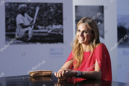 A Picture Made Available on 21 May 2015 Shows Mexican Photographer Genoveva Casanova Former Wife of Spanish Cayetano Martinez De Irujo Son of Late Duchess of Alba Talking to Media Prior the Opening of Her Photograph Exhibition at Soumaya Museum in Mexico City Mexico 20 May 2015 Casanova Has Taken Photograph During the Last Decade Through Her Humanitarian Work at India Senegal Nepal Kenya and Colombia Mexico Ciudad De Mexico