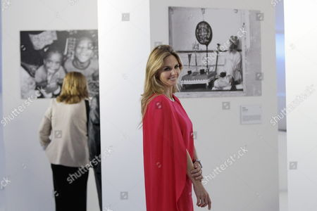 A Picture Made Available on 21 May 2015 Shows Mexican Photographer Genoveva Casanova Former Wife of Spanish Cayetano Martinez De Irujo Son of Late Duchess of Alba Posing For the Media Prior the Opening of Her Photograph Exhibition at Soumaya Museum in Mexico City Mexico 20 May 2015 Casanova Has Taken Photograph During the Last Decade Through Her Humanitarian Work at India Senegal Nepal Kenya and Colombia Mexico Ciudad De Mexico