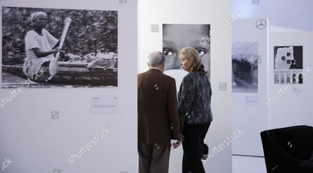 A Picture Made Available on 21 May 2015 Shows Visitors Attending the Exhibition by Mexican Photographer Genoveva Casanova Former Wife of Spanish Cayetano Martinez De Irujo Son of Late Duchess of Alba at Soumaya Museum in Mexico City Mexico 20 May 2015 Casanova Has Taken Photograph During the Last Decade Through Her Humanitarian Work at India Senegal Nepal Kenya and Colombia Mexico Ciudad De Mexico