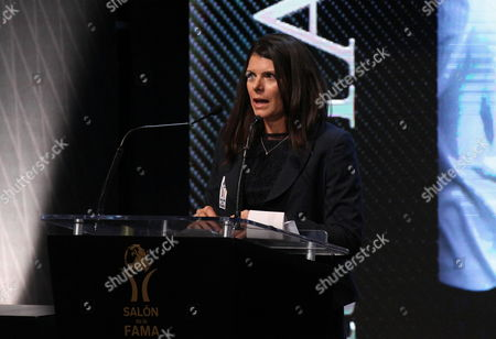 Us Retired Soccer Star Mia Hamm Speaks After Been Awarded During a Ceremony at the Mexican Soccer Hall of Fame in Pachuca Hidalgo Mexico 12 November 2013 Hamm was Selected Along with Other Figures in the World of Soccer Mexico Pachuca