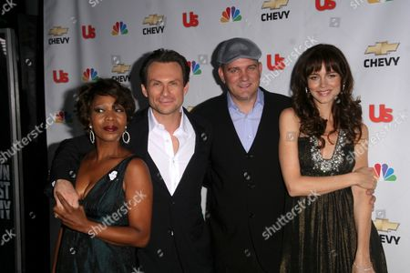 Alfre Woodard and Christian Slater with Mike O'Malley and Saffron Burrows