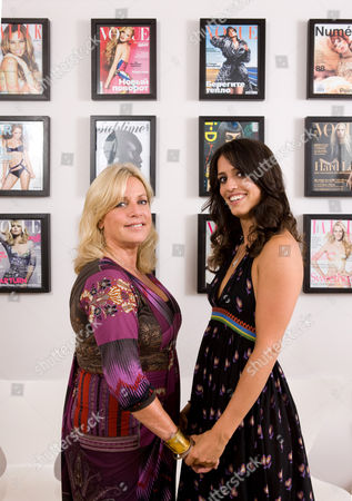 Stock Photo of Sarah Doukas and daughter Noelle Doukas