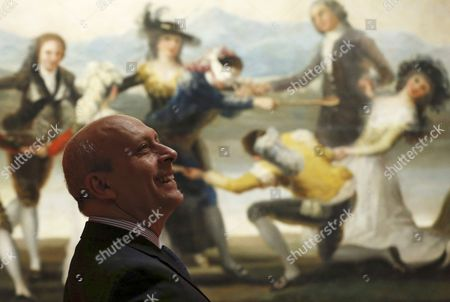 A Picture Made Available on 28 November 2014 Shows Spanish Minister of Education Culture and Sports Jose Ignacio Wert in Front of the Painting 'Blind Man's Bluff' by Spanish Artist Francisco Goya As He Attends the Exhibition 'Goya in Madrid Tapestry Cartoons 1775-1795' at the Prado Museum in Madrid Spain 27 November 2014 the Exhibit Runs From 28 November 2014 to 03 May 2015 Spain Madrid